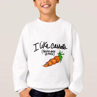 私はにんじんを好みます スウェットシャツ