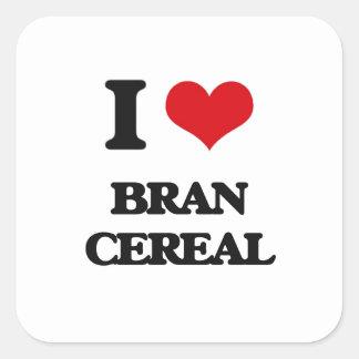 私はぬかの穀物を愛します スクエアシール