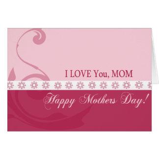 私はのお母さん愛します グリーティングカード