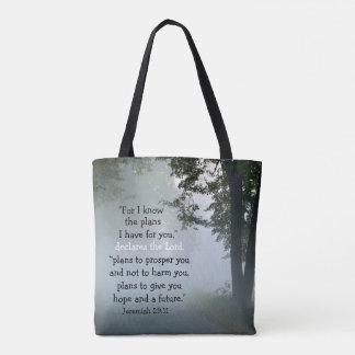 私はのために私が持っている計画、聖なる書物、経典ジェレミア29を知っています トートバッグ