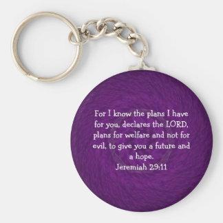 私はのために私が….持っている計画を知っています  ジェレミアの29:11 キーホルダー