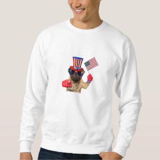 私はのパグ、米国市民犬ほしいと思います、 スウェットシャツ