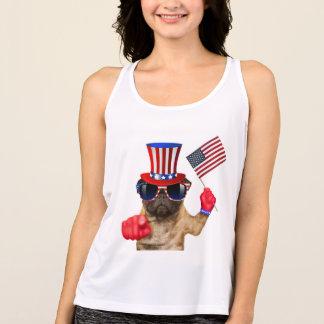 私はのパグ、米国市民犬ほしいと思います、 タンクトップ