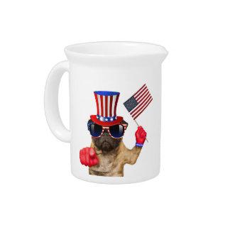 私はのパグ、米国市民犬ほしいと思います、 ピッチャー