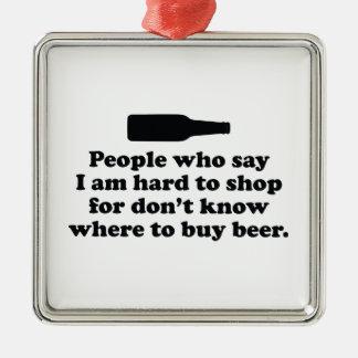 私はの買物をしにくいことを言う人々はWhを知りません シルバーカラー正方形オーナメント