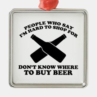 私はの買物をしにくいことを言う人々はWhを知りません メタルオーナメント