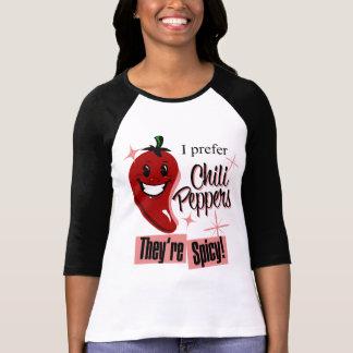 私はぴりっとするチリペッパー熱いNを好みます Tシャツ