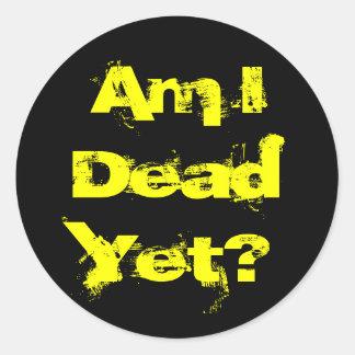 私はまだ死んでいますか。 ステッカーシート ラウンドシール
