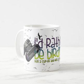 私はむしろです野鳥観察(茶) コーヒーマグカップ