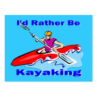 私はむしろカヤックを漕ぐ1才です ポストカード