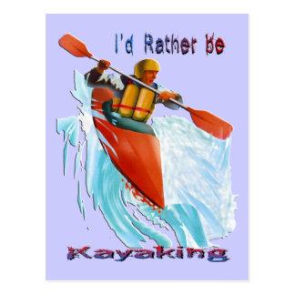 私はむしろカヤックを漕ぐ2才です ポストカード