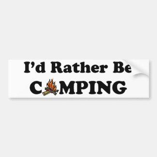 私はむしろキャンプのキャンプファイヤーです バンパーステッカー