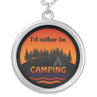 私はむしろキャンプのネックレスです シルバープレートネックレス