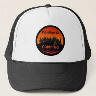 私はむしろキャンプの帽子です-色を選んで下さい キャップ