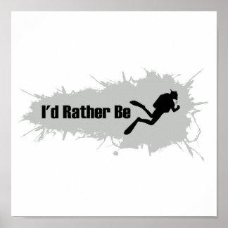 私はむしろスキューバダイビングです ポスター