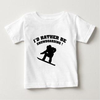 私はむしろスノーボードです ベビーTシャツ
