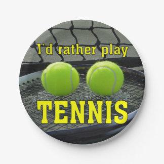 私はむしろテニスを遊びます ペーパープレート