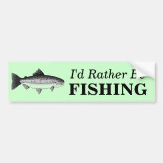 私はむしろニジマスの魚の釣り人を採取していました バンパーステッカー