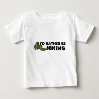 私はむしろハイキングしていました ベビーTシャツ