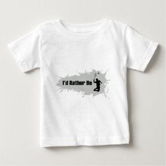 私はむしろバドミントンを遊んでいました ベビーTシャツ