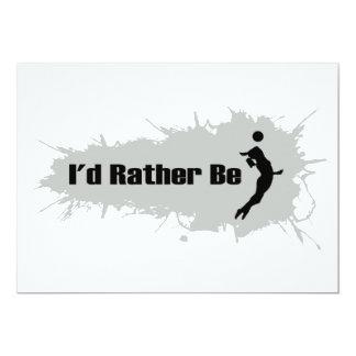 私はむしろバレーボールを遊んでいました(女性) カード