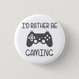 私はむしろビデオ賭博です 3.2CM 丸型バッジ
