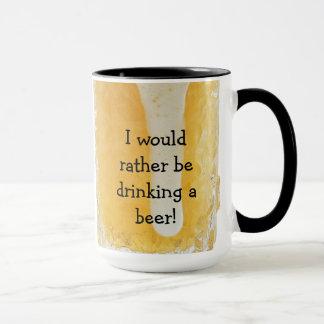 私はむしろビールを飲んでいました! コーヒー・マグ マグカップ