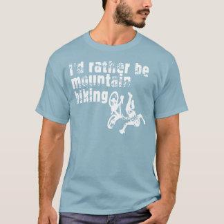 私はむしろマウンテンバイクです Tシャツ