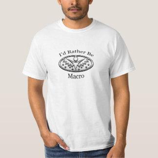 私はむしろマクロです Tシャツ
