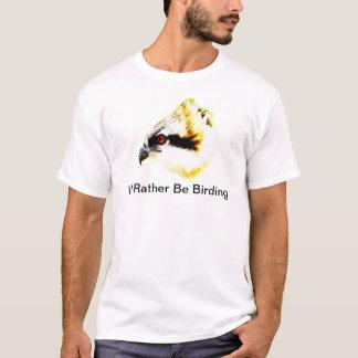 私はむしろミサゴが付いている野鳥観察の人のワイシャツです Tシャツ