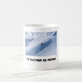 私はむしろ乗っていました コーヒーマグカップ