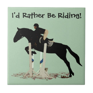 私はむしろ乗っていました! 馬 タイル