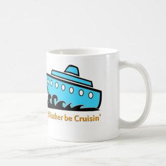 私はむしろ巡航の青です コーヒーマグカップ