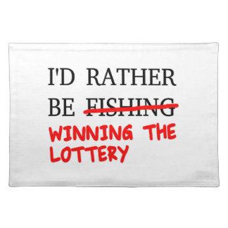 私はむしろ採取していました… 宝くじの勝利 ランチョンマット
