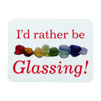私はむしろ海のガラスビーチをglassing マグネット