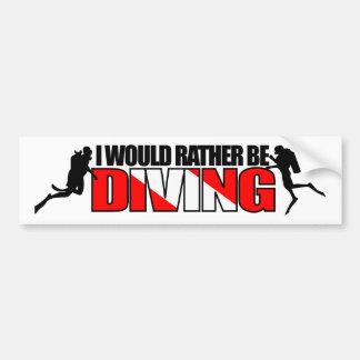 私はむしろ潜水のバンパーステッカーです バンパーステッカー