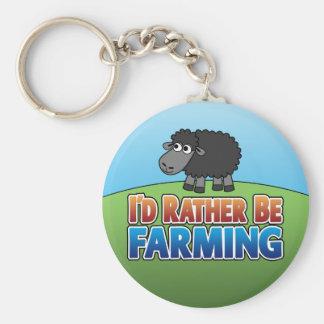 私はむしろ耕作していました! (事実上の農業) キーホルダー