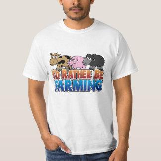 私はむしろ耕作していました! (事実上の農業) Tシャツ