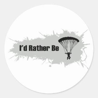私はむしろ落下傘で降りていました ラウンドシール