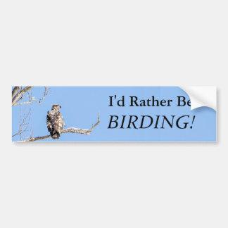 私はむしろ野鳥観察です! バンパーステッカー