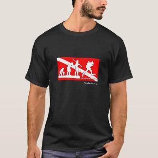 私はむしろ、スキューバ進化のTシャツ潜っていました Tシャツ