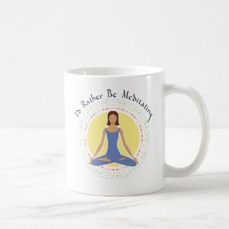 私はむしろ-女性めい想していました コーヒーマグカップ