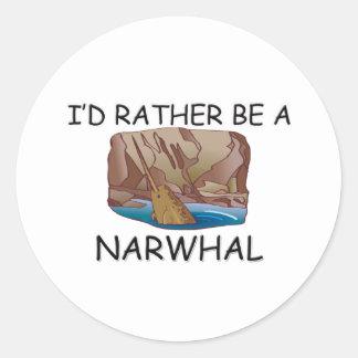 私はむしろNarwhalです ラウンドシール