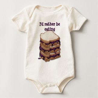 私はむしろPBJサンドイッチを食べていました ベビーボディスーツ