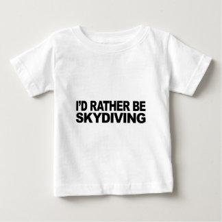 私はむしろSkydivingです ベビーTシャツ