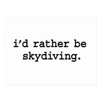 私はむしろskydiving.です ポストカード