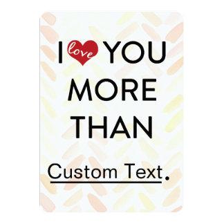 私はもっとよりおもしろいなバレンタイン愛します 12.7 X 17.8 インビテーションカード