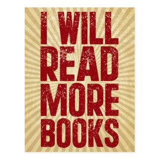 私はより多くの本を読みます ポストカード