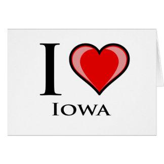 私はアイオワを愛します カード