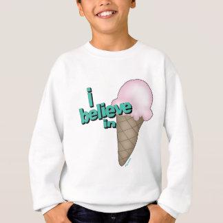 私はアイスクリームで信じます スウェットシャツ